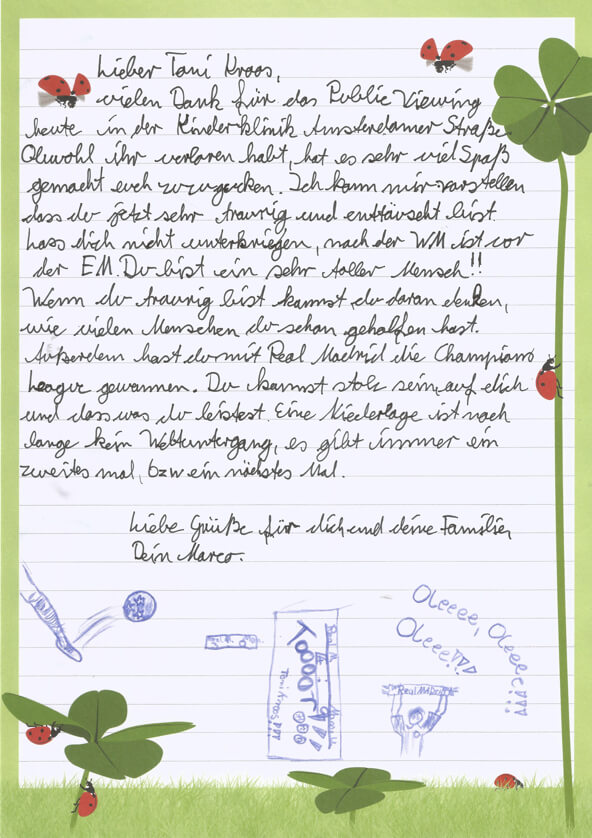 Von Kinderhand geschriebener Brief