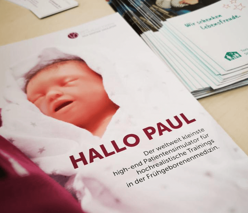 Broschüre über Paul