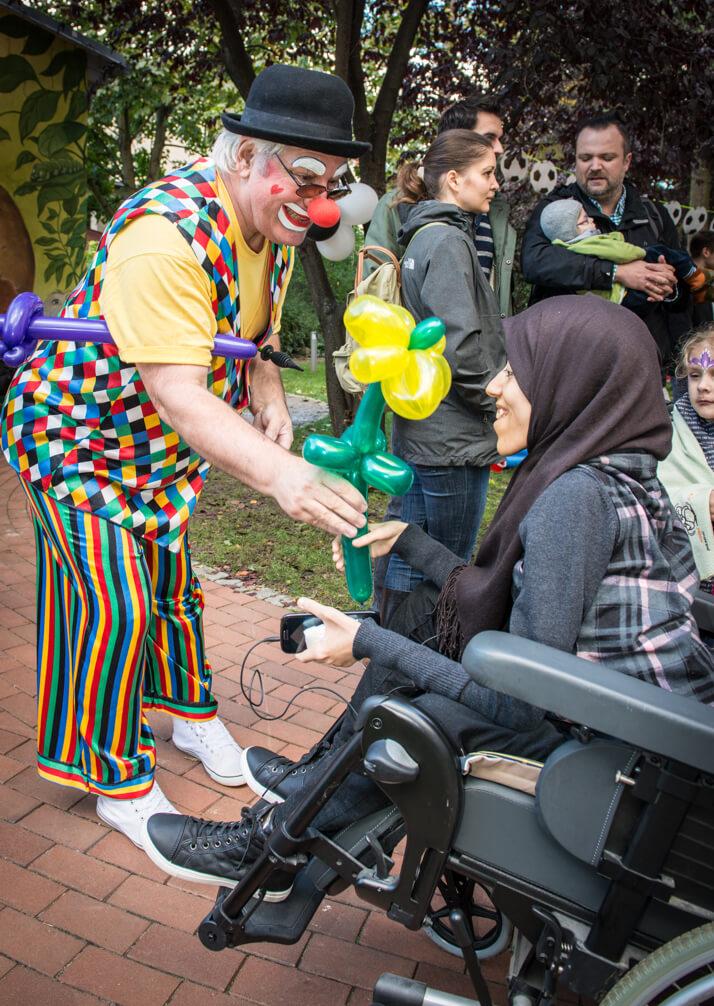 Clown mit Kind
