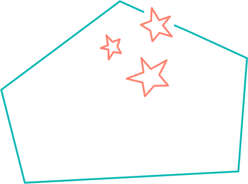 House with three stars on top